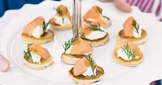 With smoked salmon and creme fraiche, these bite-sized beauties are the ultimate in gourmet canapes.