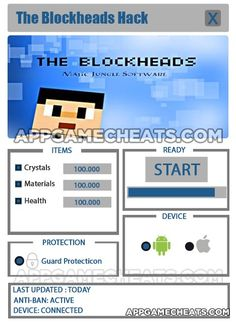 The Blockheads Hack Cheat 2016 tool download. With updated The Blockheads Hack you will have just fun. Try The Blockheads Hack tool. The Blockheads Hack working with last update.