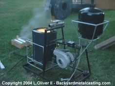 backyard furnace   ... melt iron as easily as most backyard metalcasters can melt aluminum