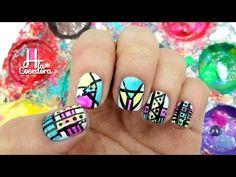 Decoración de uñas Azteca o Tribal - Paso a Paso fácil de Nail Art y Manicure - YouTube