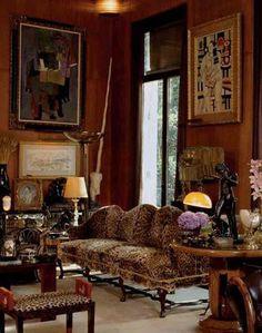 L'appartement parisien d'Yves Saint Laurent.