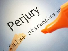 Once you commit perjury, can you really be trusted?  Perjury to save your reputation is not reputable.  #karmaknowswhereulive
