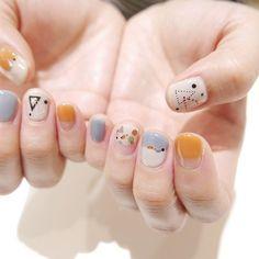 . 丸と三角○△▶︎ . #atelierlim#nail#biiq#ヨシナカ
