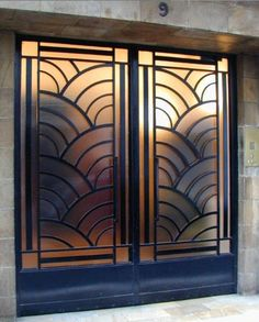 """I like this pair of art deco doors, but I wonder if they're a little too """"art deco hotel elevator doors"""". Best Picture For art deco interior australia For Your Taste You are looking for something, a"""