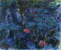 Claude Monet, Ninfee e riflessi del salice 1916-1919 on ArtStack #claude-monet #art