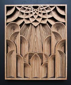 Oakland based artist Gabriel Schama loves to work with wood and precision cutting laser. He creates amazing densely layered wood relief sculptures that sometimes twist, sometimes intersect and overlap each other to create a mandala-like forms and pieces