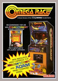 Omega Race for Colecovision Box Art