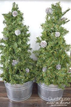 these small christmas trees are made from a tomato cage dont forget to add fillers a really low cost and easy way to decorate your home for the holidays