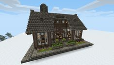 Minecraft Medieval House Blueprints