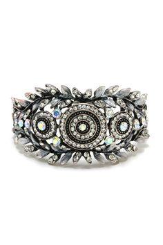 Charlie Crystal Statement Bracelet on Emma Stine Limited
