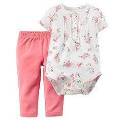 Baby Girl Carter's Flower Bodysuit & Pants Set