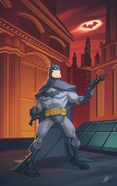 batmannotes: Batman in Gotham by Valerio. Power Rangers, Batman Pictures, Batman Artwork, Batman And Superman, Batman Arkham, Batman Robin, Lego Batman, Batman Universe, Comics Universe