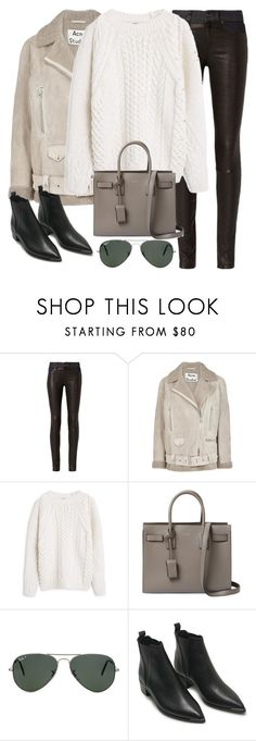 """Untitled #3281"" by elenaday ❤ liked on Polyvore featuring rag & bone, Acne Studios, MANGO, Yves Saint Laurent and Ray-Ban"