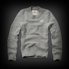 ホリスター メンズ ニット  Hollister Leucadia Sweater ニット セーター   ★人気アメカジブランド。日本でも多くの有名人が愛用しているホリスター。話題の今季新作アイテム。  ★ホリスターを代表するカモメのマークのアップリケ刺繍がされてます。