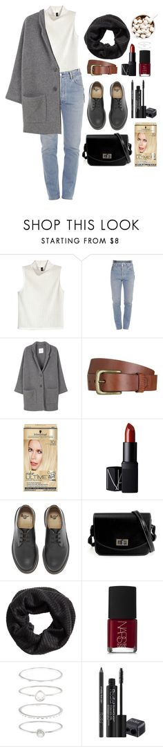 """""""Noora (Skam)"""" by katblack0 ❤ liked on Polyvore featuring H&M, Vetements, MANGO, Will Leather Goods, Schwarzkopf, NARS Cosmetics, Dr. Martens, Accessorize and Rodial"""