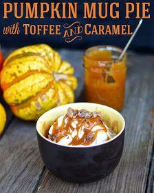 Yammie's Noshery: Pumpkin Mug Pie with Toffee and Caramel: c. canned pumpkin puree ; Peanut Butter Mug Cakes, Chocolate Peanut Butter, Microwave Mug Recipes, Cake Mug, Pecan Cake, Pumpkin Bread, Pumpkin Puree, Canned Pumpkin, Pumpkin Spice