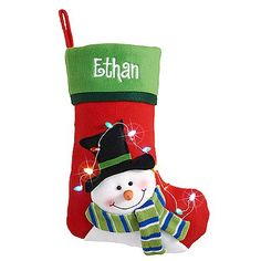 Tangled in Lights LED Stocking