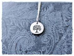 4d220f281 Silver Rowan Tree Necklace - Sterling Silver Rowan Tree Charm on a Delicate Sterling  Silver Cable Ch