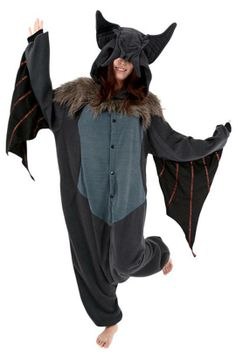 Bat Kigurumi Cushzilla Animal Adult Anime Costume Pajamas at Toynk Toys