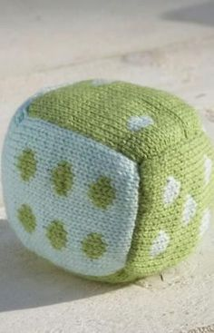 Roll the Dice Baby Block Free Knitting Pattern from Red Heart Yarns
