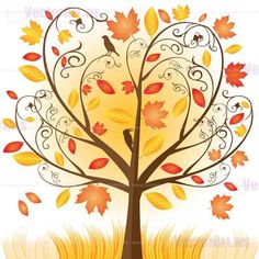 A_001_186-Beautiful-autumn-tree-with-fall-Leafs-vector-illustration.jpg (456×456)