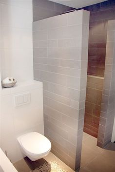 Bathroom with walk-in shower - Beautiful Bathrooms, Modern Bathroom, Small Bathroom, Master Bathroom, Minimalist Bathroom, Bathroom Toilets, Bathroom Renos, Shower Bathroom, Bad Inspiration