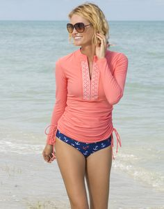 Kasana Sea - Ladies Coral Long Sleeve Rash vest - Cabana Life, $75.00 (http://www.kasanasea.com.au/ladies-coral-long-sleeve-rash-vest-cabana-life/)