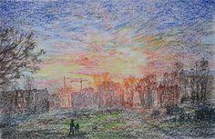 Василий Россин (Vasily Rossin), Тихий вечерQuiet evening2016 г.Бумага, пастель Pastel, paper33 х 51