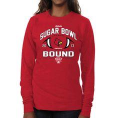 Louisville Cardinals Women's 2013 Sugar Bowl Bound Long Sleeve T-Shirt - Red - $6.99