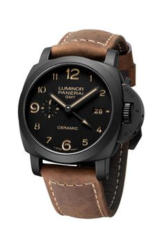 The Luminor 1950 3 Days GMT Automatic Ceramica is limited addition from Officine Panerai. Really a must have if the price tag wasn't €8900 and it's only made in 1500 pieces to be released in July 2012.