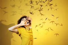 Les oiseaux  Mobile: Guillemette Lanthiez  Photo: Amelie Chassary