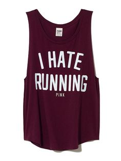 Boyfriend Tank-Victoria's Secret---would love to wear it to a race! lol
