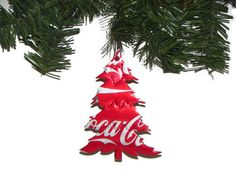 Recycled Coke Soda Can Christmas Ornament Tree Ornament.