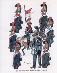 French; Chevau-Legers, Troopers 1811-15 by P.Courcelle