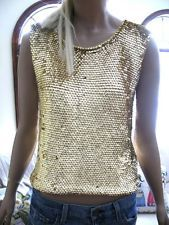 VTG 70s GOLD SHIMMER SEQUIN BEAD KNIT TANK TOP Knitted Tank Top, Work Clothes, Metallic Gold, Bead, Sequins, Knitting, Tank Tops, Shopping, Outfit Work
