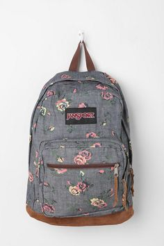 Urban Outfitters - Jansport Floral Chambray Backpack $60