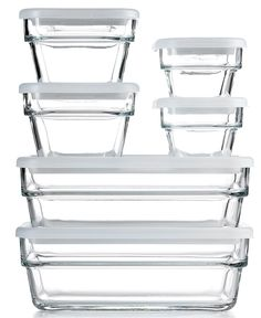 I like these elegant glass storage containers Martha Stewart