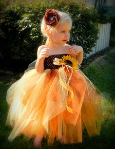Girls Dress Costume Fall Autumn Scarecrow by HarperPaigeBowtique, $29.99