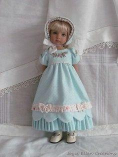 13-Effner-Little-Darling-BJD-fashion-aqua-pink-Regency-OOAK-handmade-by-JEC. Ends 9/28/14. Sold for $127.50