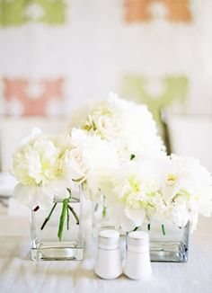 floral, centerpieces, flower girl, classic, dahlia, white, all, decor, flowers, reception, table, peony,