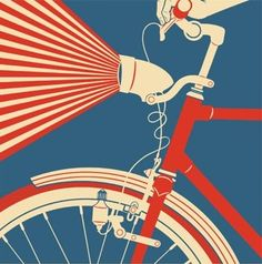 vintage bicycle art. www.ibikeflorence.com