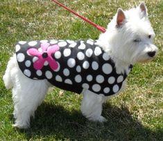 Loco punto perro chaqueta capa del perro por CustomDogJacket