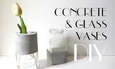 DIY - Concrete and Glass Vases - YouTube