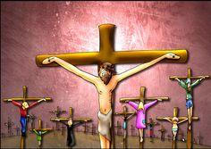 Resultado de imagen para XI Estación: Jesús es clavado en la cruz