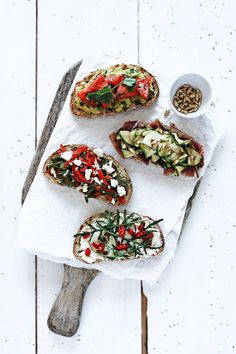 Various Bruschettas recipes