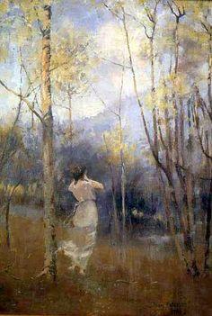 James Paterson (Scottish, 1854 - 1932) Spring In Moniaive, 1889