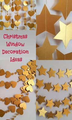 beautiful décor item! so pretty & ethereal! excellent quality!Window decoration for Christmas with gorgeous golden garlands #xmas #christmas #decor #garland #stars #ad