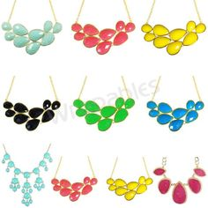 Wrapables Drop Shape Bubble Statement Necklaces