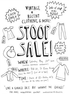 clothes sales poster - Google Search
