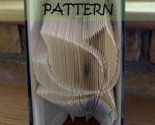 Book folding Pattern: FLOWER design (including instructions) – DIY gift – Papercraft Tutorial